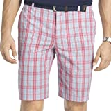 IZOD Mens Plaid Lightweight Casual Shorts Pink 30