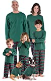 PajamaGram Family Christmas Pajamas Cotton - Flannel, Red/Green, Women's, S, 4-6