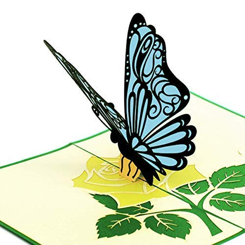 Butterfly Pop Up Card With Gift Holder For Amazon Visa Starbucks Cards Beautiful Birthday Amazing Wedding 3D