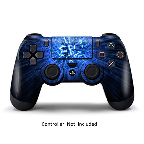 Skins for PS4 Controller - Stickers for Playstation 4 Games - Decals Cover for PS4 Slim Sony Play Station Four Controllers PS4 Pro Accessories PS4 Remote Wireless Dualshock 4 Skin - Blue Explosion