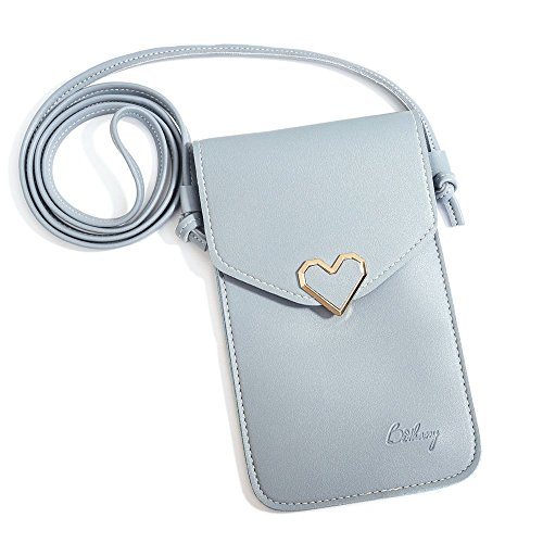 Price comparison product image Crossbody Bag Cell Phone Purse clear purse Wallet Shoulder Strap for Women Girls,Blue