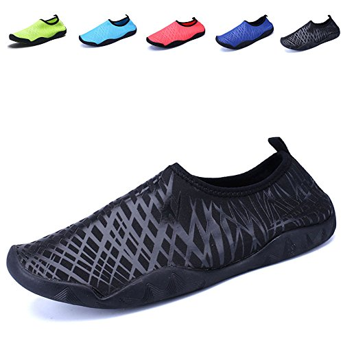 SexRt Men and Women Barefoot Skin Amphibious Quick-Dry Water Shoes,HDSX01,black,43