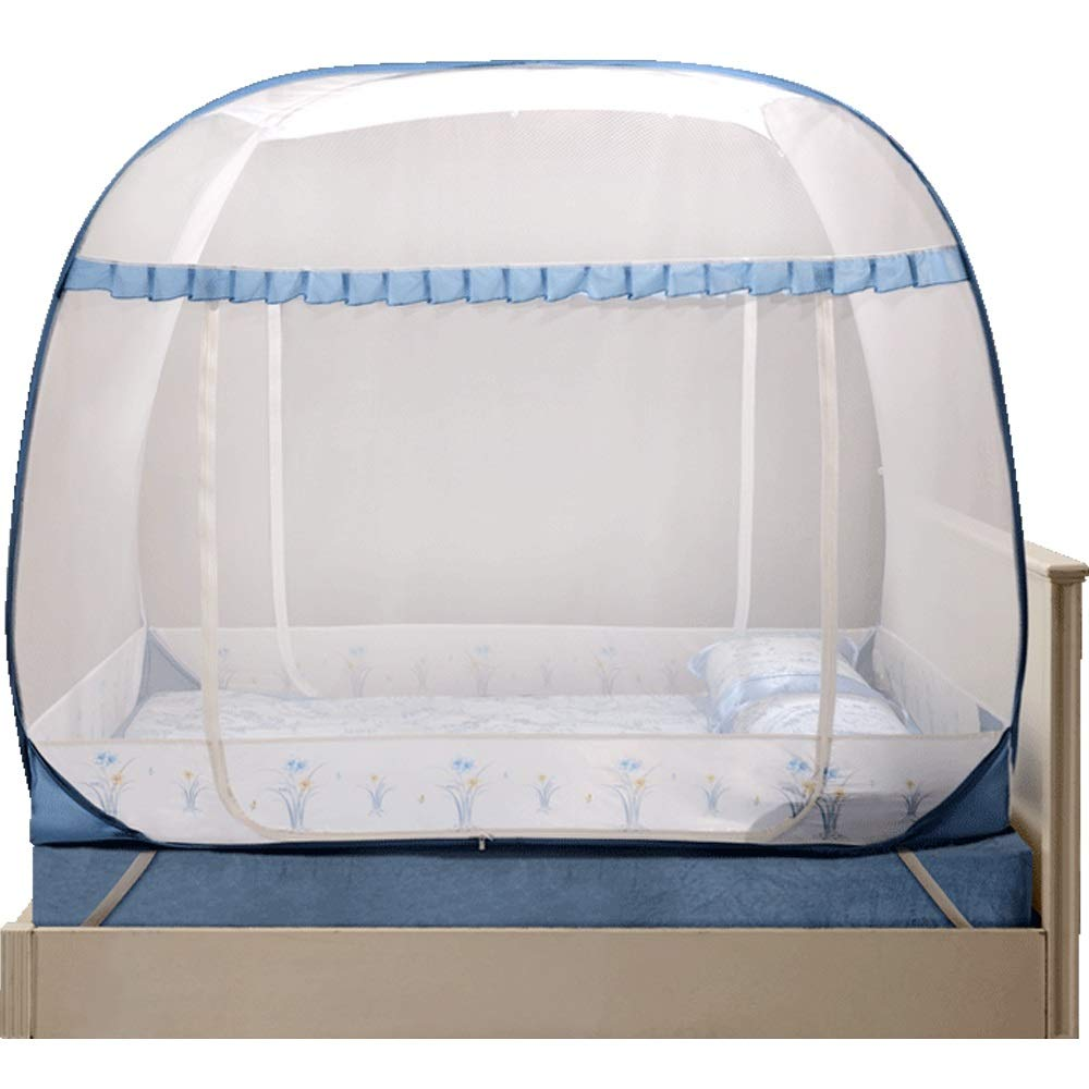 YXQ- Mosquito Net - Yurt Type Does Not Installation Require Three-Door Encryption Padded Mosquito Net - Size: Suitable for 5 Foot Bed, for 6 Foot Bed Mosquito net (Size : Suitable for a 6 Foot Bed) by YXQ- (Image #1)
