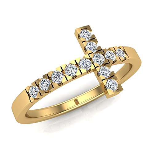 0.24 Ct Diamond Cross - 7