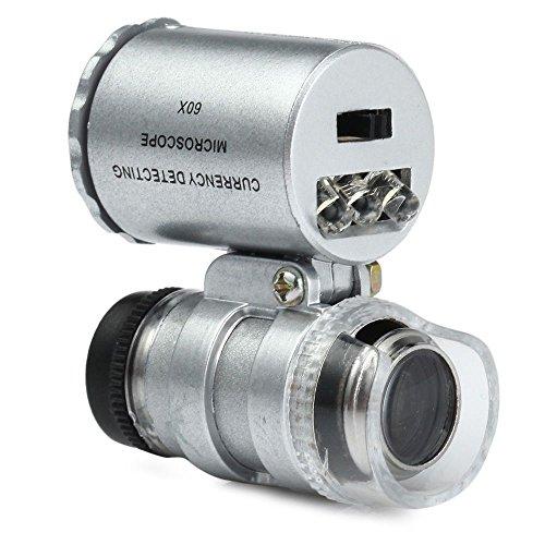 Yunchenghe Aguja de Tatuaje Lupa, teléfono móvil para su Uso microscopio Externo 60 Veces HD LED Lente de Aumento...