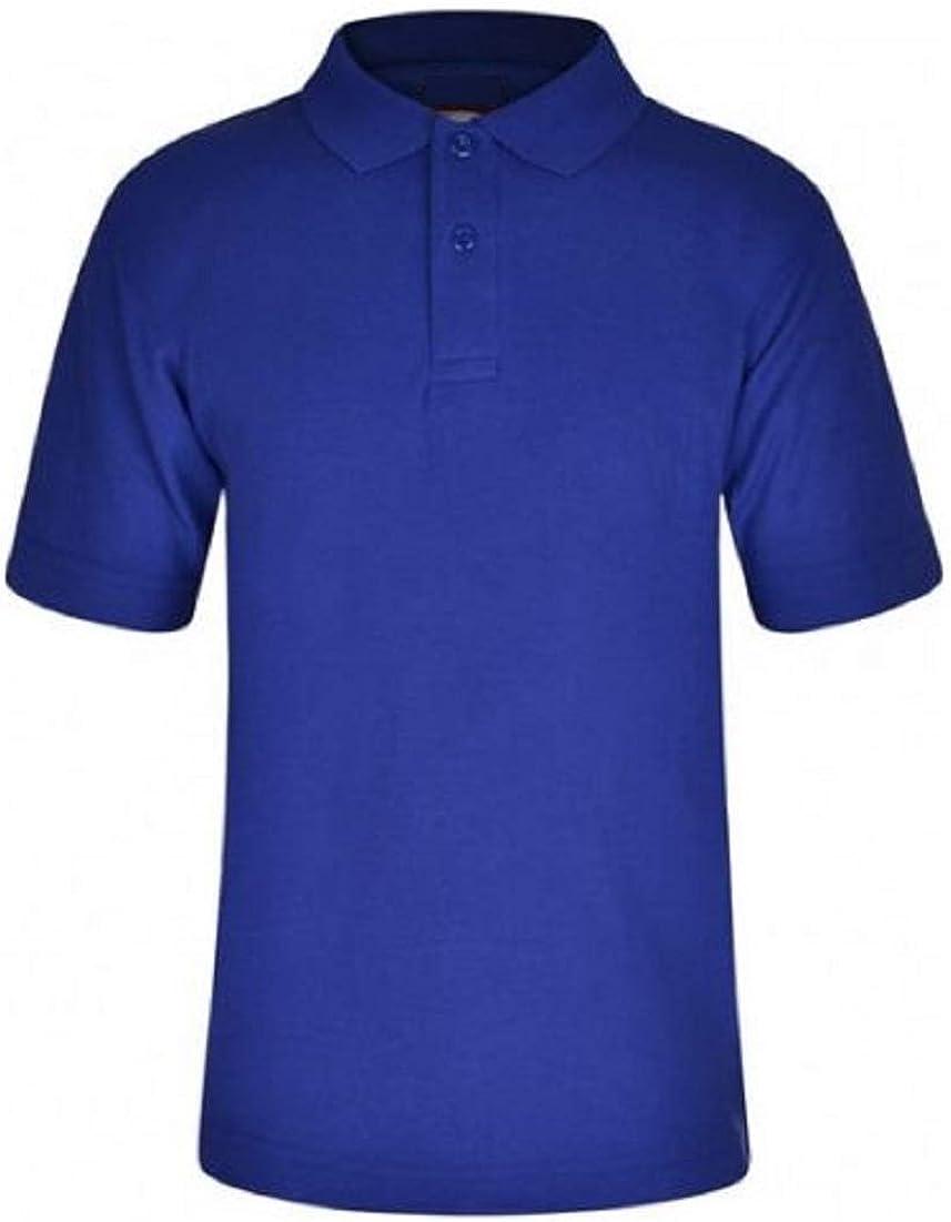 Zeetaq Kids Boys Girls School Plain Polo Shirt Uniform PE Casual Age 3-13 Years
