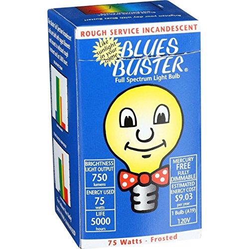 Full Spectrum Light Bulb - Frosted - 75 Watt 1 - Light Blue Spectrum
