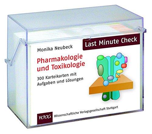 Last Minute Check - Pharmakologie und Toxikologie: 300 Karteikarten mit Aufgaben und Lösungen