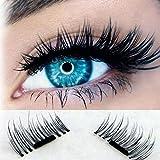 Winhurn Ultra-Thin 0.2mm Magnetic Eye Lashes 3D Reusable False Magnet Eyelashes (Black)