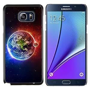"""Planetar® ( Tierra Luna Fuego Agua Universo Planet Ver"""" ) Samsung Galaxy Note5 / N920 Fundas Cover Cubre Hard Case Cover"""