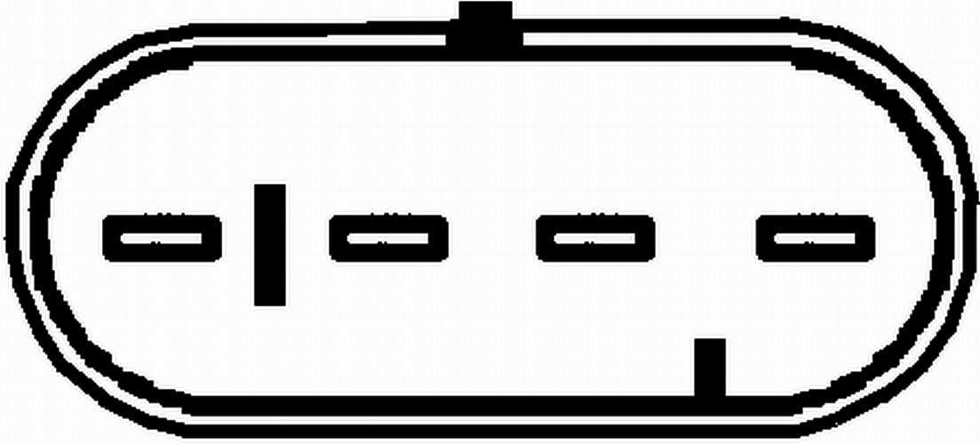 730mm HELLA 6PA 009 166-491 Lambdasonde L/änge Leiteranzahl 4-adrig