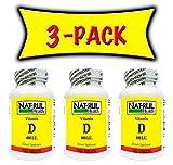 NAT-RUL Vitamin D 400 I.U. 100 tablets (3 PACK) Review