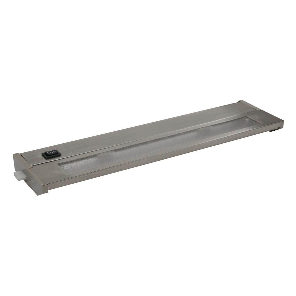 American Lighting 043X-2-BS Priori Xenon Under Cabinet Hardwire Light, 40-Watts, Hi/Low/Off Switch, 120-Volt, 14-Inch, Brushed Steel