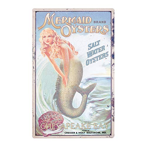 Ohio Wholesale Mermaid Advertising Sign Wall Art, from our Water Collection ()