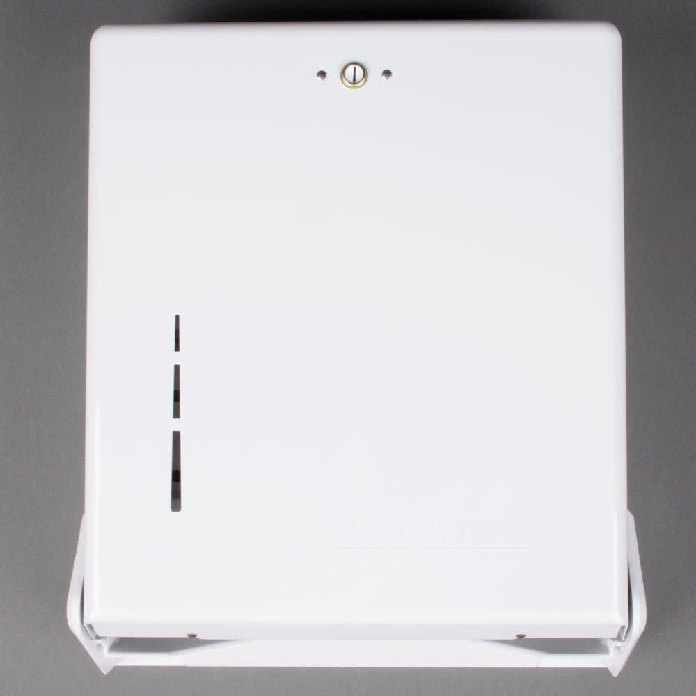 TableTop King T1905WH True Fold White C-Fold / Multi-Fold Towel Dispenser