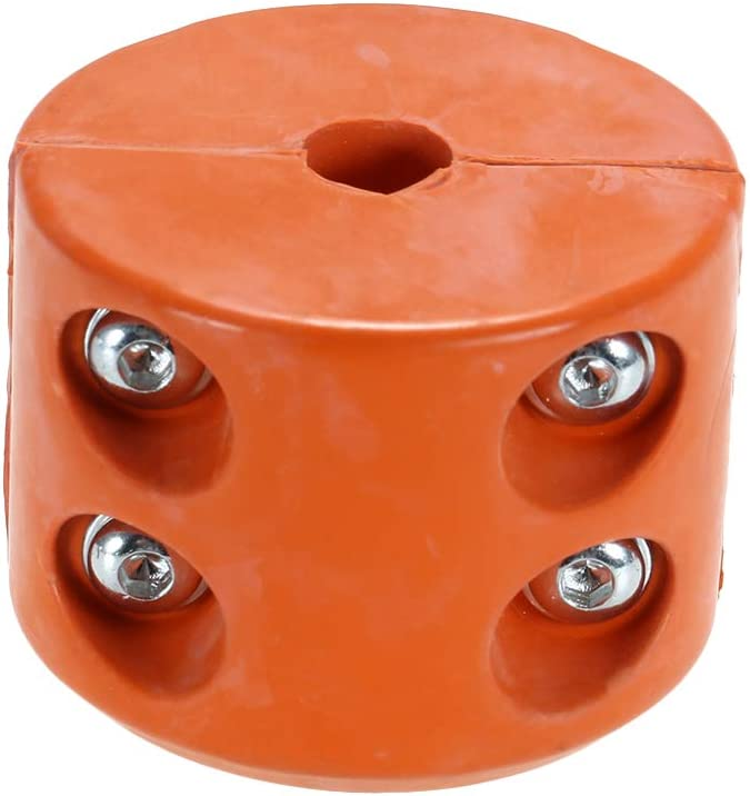 KKmoon Rubber Winch Cable Hook Stopper Cushion for ATV UTV with Allen Wrench Orange