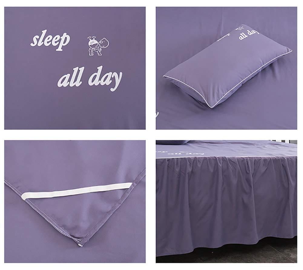 Bett Rock Volltonfarbe Tagesdecke Bett Volant Hotel qualit/ät Faltenresistent und ausbleichen best/ändig Einfach fit-blau 1 x Kopfkissenbezug 48x74cm