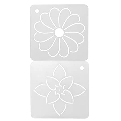 Sgerste 2 Plantillas De Plastico Para Bordado De Flores Y
