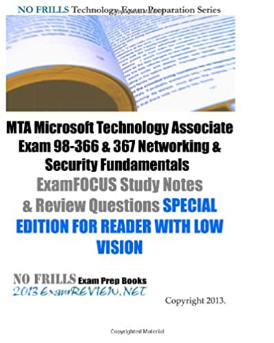 mta microsoft technology associate exam 98 366 367 networking rh amazon com Microsoft Security Fundamentals MTA Logo
