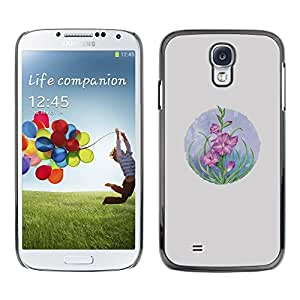 [Neutron-Star] Snap-on Series Teléfono Carcasa Funda Case Caso para Samsung Galaxy S4 [Tarjeta Dibujo Flores en colores pastel]