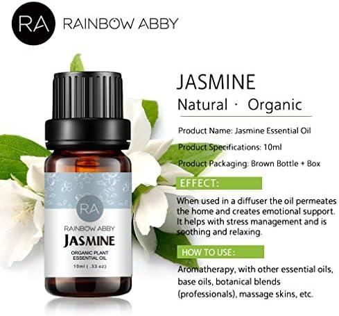 4 botellas de aceite esencial de jazmín Aceite de aromaterapia 100 ...