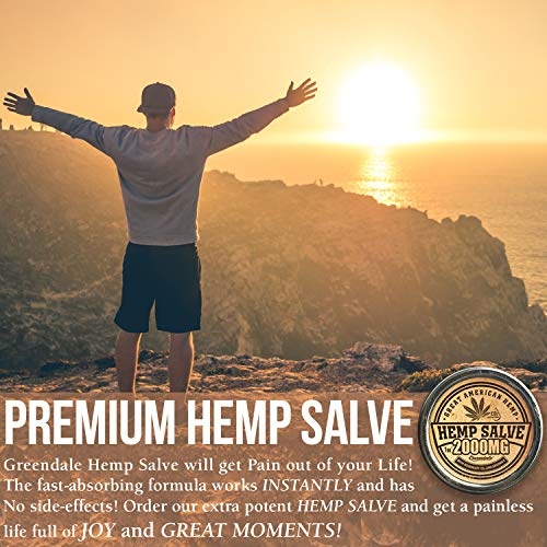 51oczGX4%2BGL - Hemp Oil Salve for Pain Relief - 2000 Mg - Fast Acting & Natural - Knee, Muscle, Joint, Neck & Back Pain Relief - Premium Hemp Oil Made in USA - Anti Inflаmmаtory Hemp Balm - MAX Efficacy - No GMO