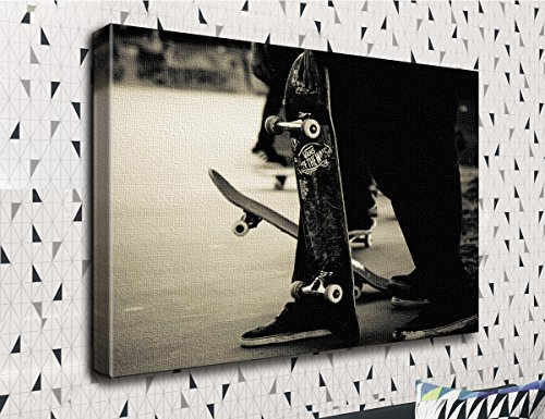 COLORSFORU Skateboard Extreme Sports Fashion Cool Custom Canvas Print 20x16 Inch Framed Home Decor Wall Art Painting Canvas Poster Oil