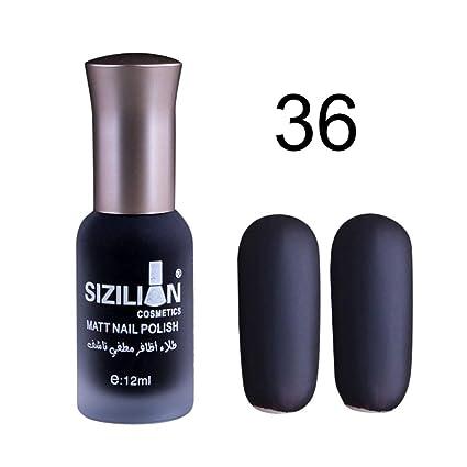 esailq - esmalte para uñas mate de secado rápido, fácil de quitar, larga duración