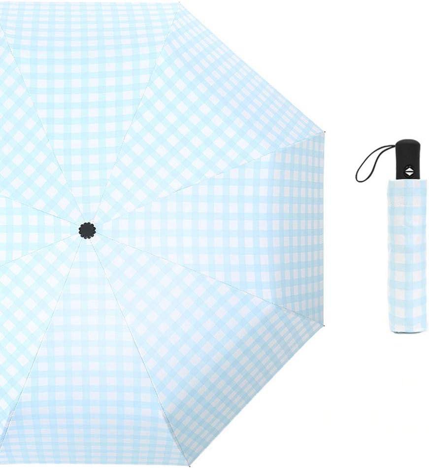 BAIXL Parasol Plage Anti UV Portable Pliage Automatique//Manuel Preuve du Vent Imperm/éable a leau Confortable Antid/érapante de Trellis Plastique Unisexe,blueautomatic