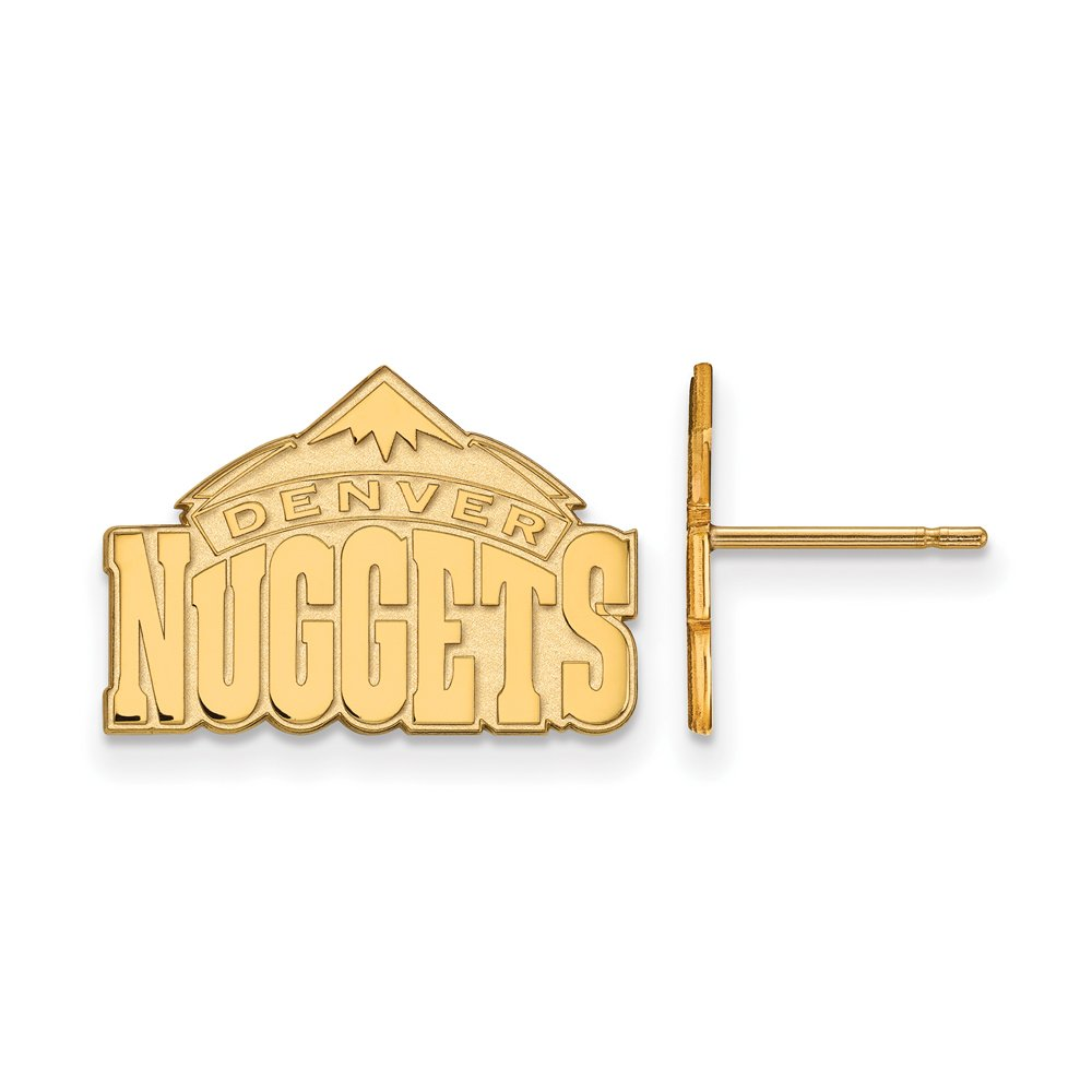 NBA Denver Nuggets Post Earrings in 10K Yellow Gold