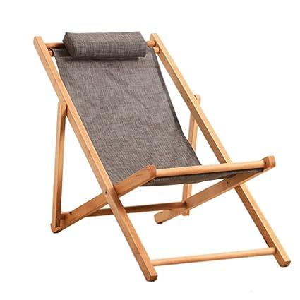 Wood 3 position Finish Fold Deck Chair Foldable Summer Beach Garden//Patio Garden