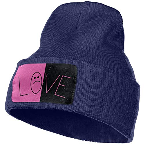 - Lil Peep Cuffed Plain Skull Knit Hat Cap - Warm, Stretchy & Soft Winter Beanie Hats for Men & Women