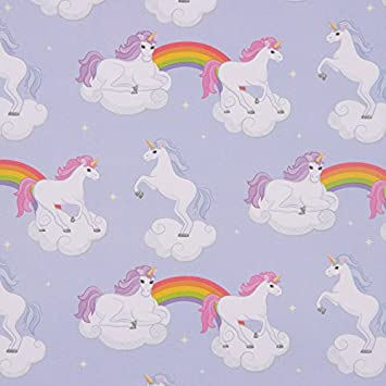 unicorn rainbow gift wrap with gift tags 8 piece set for kids