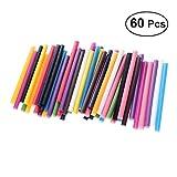 Healifty 60Pc Hot Melt Gun Glue Sticks for Hot Glue Multifunctional Repair Tool (Mixed Color)