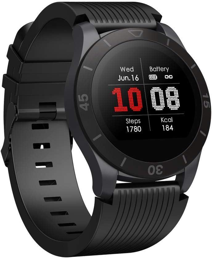 totobay Reloj Inteligente Hombre Mujer, Smartwatch Deportivos Reloj Bluetooth con (Monitor de Ritmo Cardíaco/Sueño/Calorías) Reloj de Fitness con Notificación de llamadas Mensaje Podómetro Cronómetros