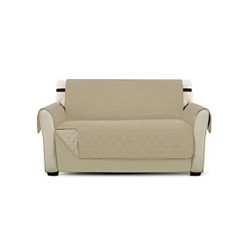 PETCUTE Cubre para Silla Fundas de Sofa Protector de sofá o sillón, Dos o Tres plazas Beige 2 plazas