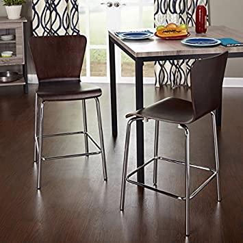 Luxury Espresso Colored Bar Stools