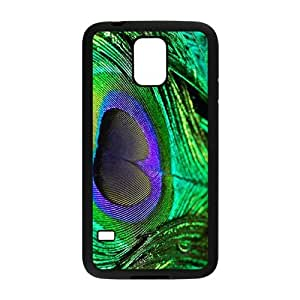 Peacock Feather Pattern TPU Snap on Case Cover For Samsung Galaxy S31-Black/White