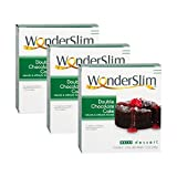 WonderSlim Low-Carb High Protein Dessert/Double Chocolate Cake Mix (3 Boxes - Save 5%) - Low Carb, Trans Fat Free