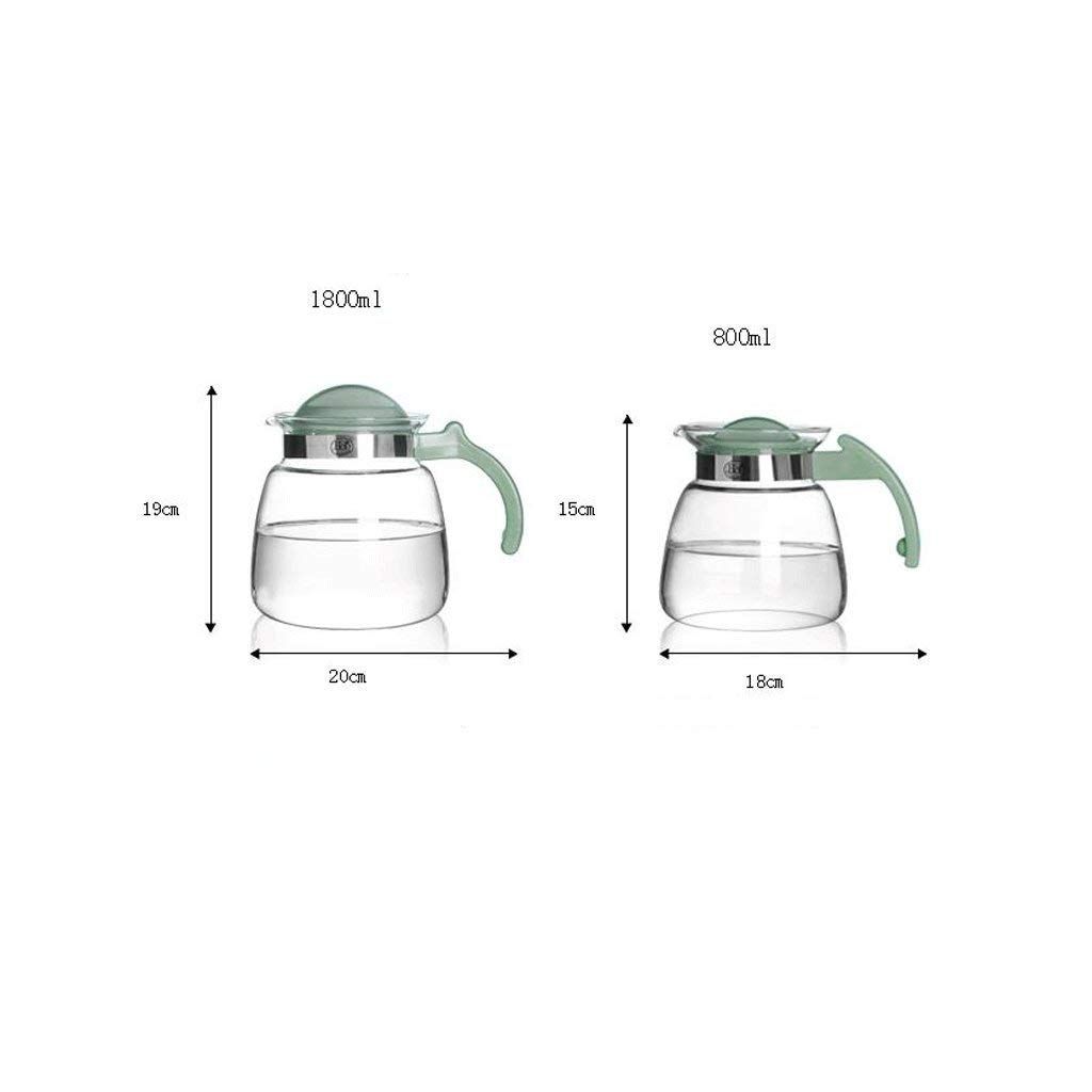 High Temperature Resistance ZS Heat Resistant Glass Kettle Large Capacity Transparent Cold Kettle Fruit Juice Cup Water Cup with Tea Pot (Capacity : 800ml) (Size : 800ml) by Carl Artbay (Image #2)