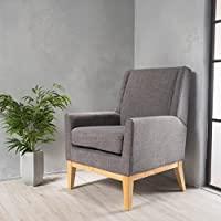 Christopher Knight Home 299400 Aural-CKH Chair, Light Grey