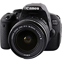 Canon EOS 700D/T5i with EF-S 18-55mm f/3.5-5.6 III Lens (International Model No Warranty)