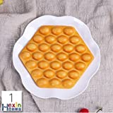 Lovely Fake Dummy Egg Puffle Waffle | Realistic Simulation Artificial Display of Egg Puffle Waffle for Restaurants | Food Decoration