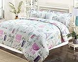 HowPlumb Twin 3 Piece Bedding Girls Comforter Bed