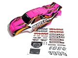 Traxxas Rustler Brushed or VXL Factory Painted Pink Body With Decals
