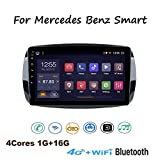 Yuahwyehe para Mercedes Benz Smart Android 8.1 Car Stereo 9 Pulgadas GPS De Navegación Radio Coche Audio FM/Am/RDS Radio Video Player WiFi Bluetooth SWC BT Manos Libres