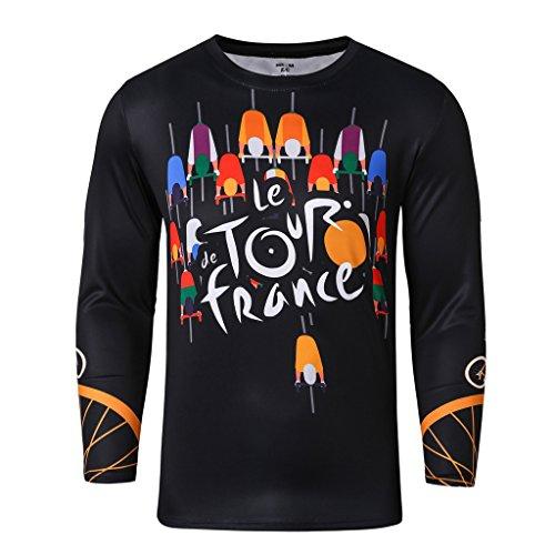 Workwear Men's Long Sleeve T-Shirt Le Tour France (Dillards Robes)