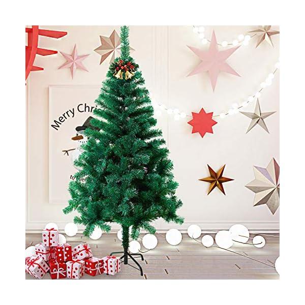 Mctech, albero di Natale artificiale, colore: verde, PVC, 210cm 5 spesavip