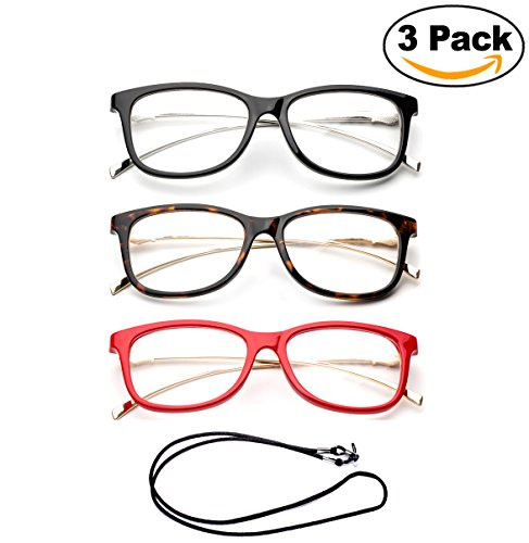 Newbee Fashion Cateye Metal Frame Comfortable Stylish High Quality Readers Cheaters Side Temple Print Reading Glasses for Women with Bifocal - Glasses Bifocal Reading Stylish