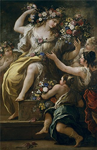 The High Quality Polyster Canvas Of Oil Painting 'Giordano Luca La Diosa Flora Ca. 1697 ' ,size: 20 X 31 Inch / 51 X 78 Cm ,this Vivid Art Decorative Prints On Canvas Is Fit For Bedroom Decor And Home Artwork And Gifts by Leo Brown